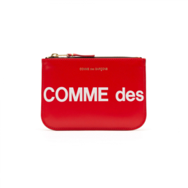 CDG Huge Logo Wallet Red