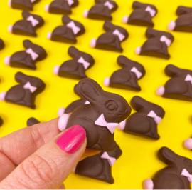 Pin broche - chocolade haasje
