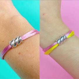 Zilveren spekje armband set twv bijna 100 euro