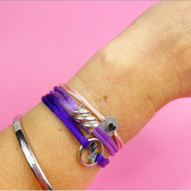 Zilveren spekje armband