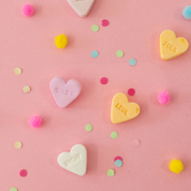 Pin broche - snoep hartje roze