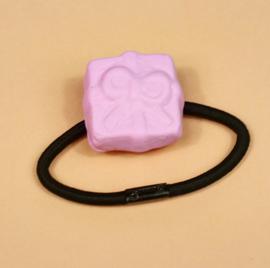 Haarelastiek - kado schuimpje roze