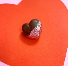 Pin broche - chocolade hart