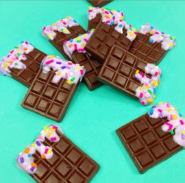 Haarelastiek - chocoladereep