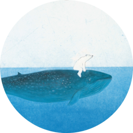 Behangcirkel Riding the whale Ck-042