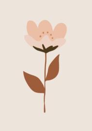 Bibelotte behang retro bloem roze