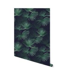 Creative Lab behang Palm Leaves dark