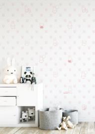 Nijntje behang bears roze