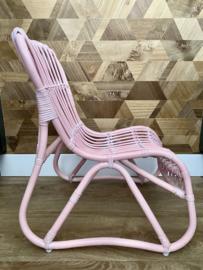 Rotan stoeltje roze