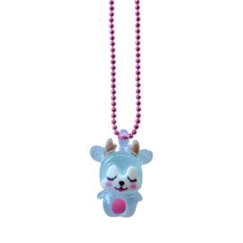 Pop Cutie Gacha ketting baby deer blue