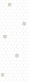 Bibelotte behang honinggraat wit- blauw