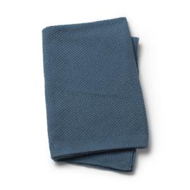 Elodie Detailswieg deken Moss knitted Tender Blue