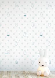 Nijntje behang bears blauw