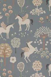 Majvillan behang True Unicorns evening blue