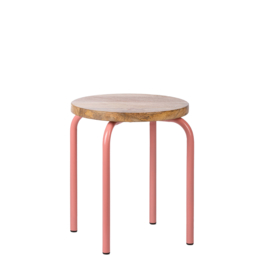 Kids Depot Circle kruk pink set van 2