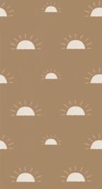 Bibelotte behang Ochtendgloren mosterd