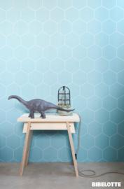 Bibelotte behang honinggraat blauw