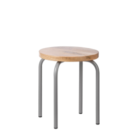 Kids Depot Circle kruk grey set van 2