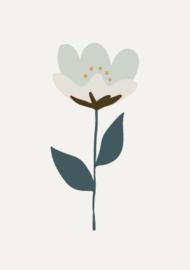 Bibelotte behang retro bloem blauw
