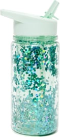 Drinkfles glitter dusty green