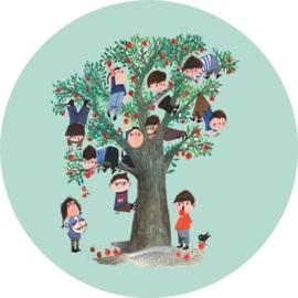 Behangcirkel Apple Tree CK-016