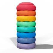 Stapelstein Rainbow groot 8 stuks