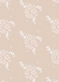 Bibelotte behang bloemetjes stone nude