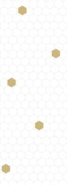 Bibelotte behang honinggraat wit- zeegroen
