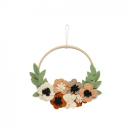 Flower hoop flowers