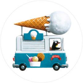Behangcirkel Icecream truck CK-039