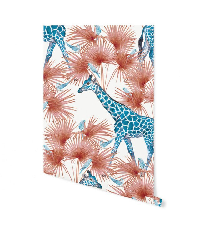 Creative Lab behang Blue Giraffe