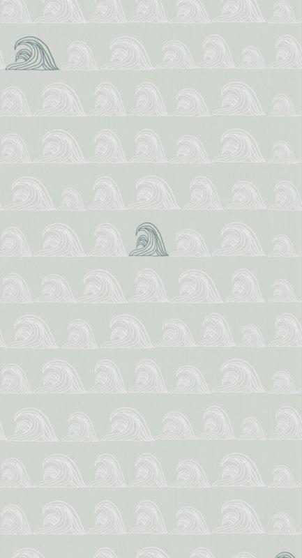 Bibelotte behang Zeebries denimblauw