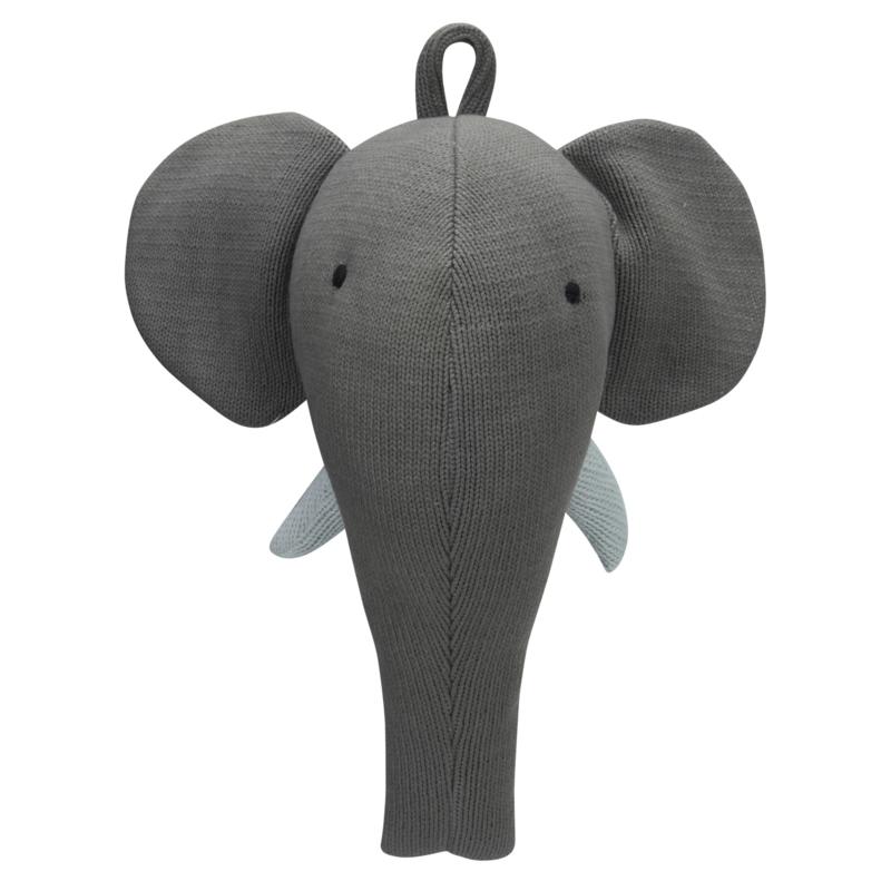 Kids depot dierenkop gebreid olifant