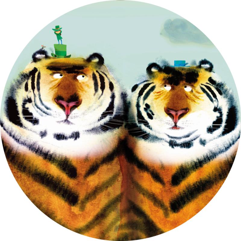 Behangcirkel Two Tigers CK-041