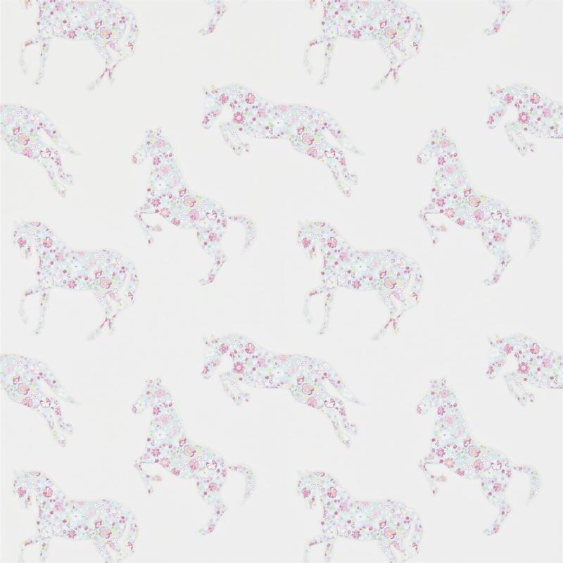 Sanderson Pretty Ponies pink/sky