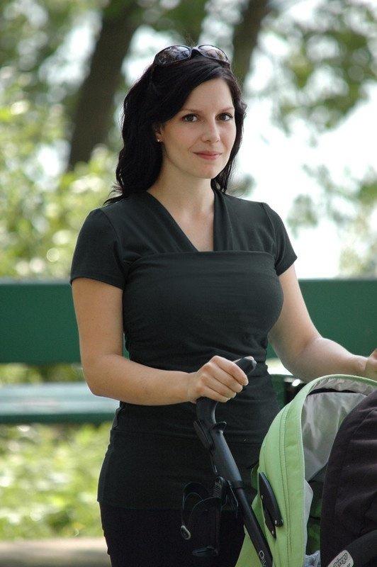 Vija buidelshirt zwart