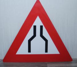 Kunststof verkeersbord wegversmalling