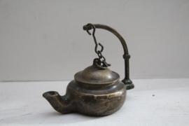 Antiek bronzen olielampje / tuitlampje