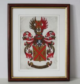 """Heraldiek - familiewapen """"Van Gennep""""- door Heraldisch Atelier """"Armorial"""""""