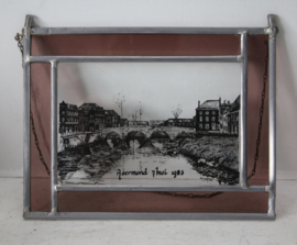 Glas in lood /  gebrandschilderde raamhanger - Roermond 7 mei 1983