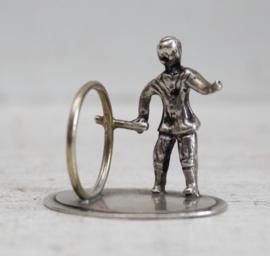 Zilveren miniatuur - Hoepelaar