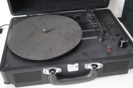 Retro look koffer grammofoon /  platenspeler