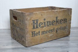 Houten Heineken krat - Heineken het meest getapt