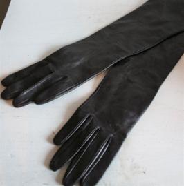 Handschoenen - Lange lederlook zijden handschoenen
