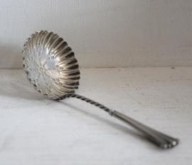Zilveren suiker zifter lepel (sifter spoon) 1901
