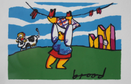 Herman Brood, Waslijn - Zeefdruk, in de druk gesigneerd