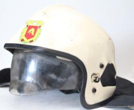 Originele brandweer helm van kevlar met vizier