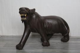 Prachtig houten beeld van een tijger/panter - Hout