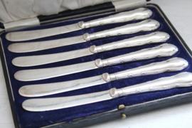 Zilveren botermessen in origineel foudraal, Birmingham VK 1926 - WJ Myatt & Co
