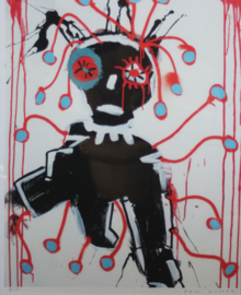 Paul Kostabi - Abstract werk - Lithografie 38/75